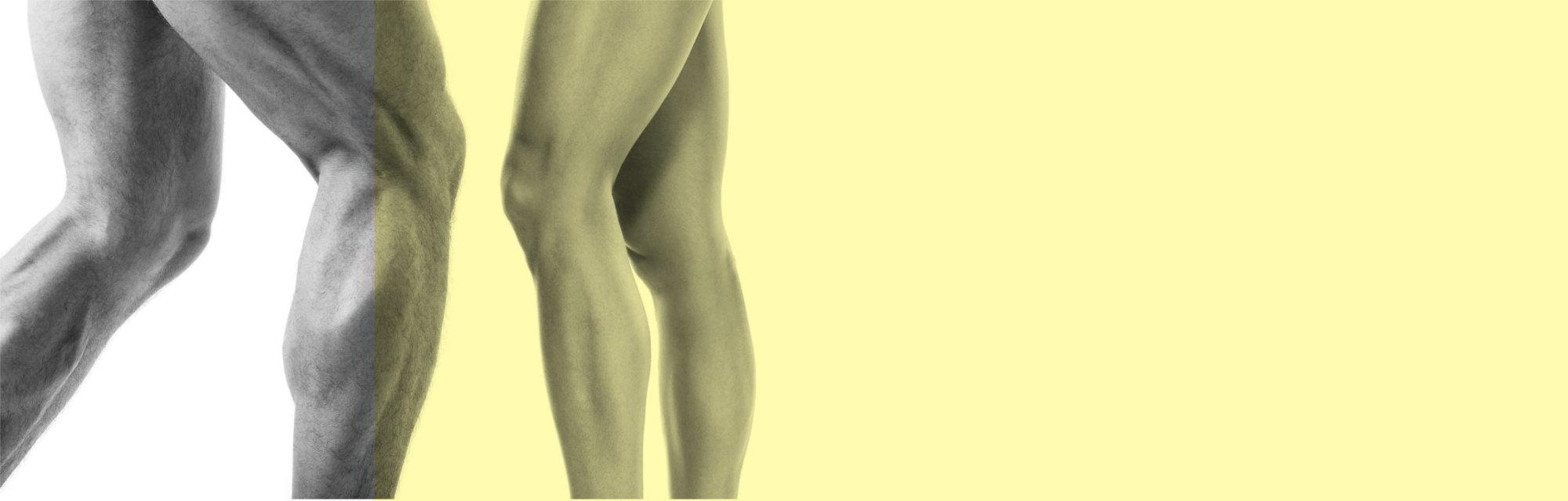 Gambe di un uomo e di una donna