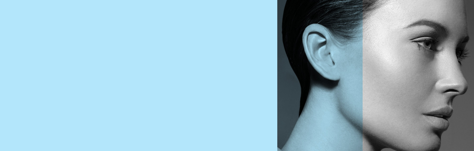 Donna con orecchie rifatte